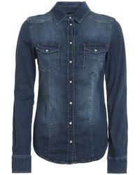 Liu Jo Faded Denim Shirt - Blue