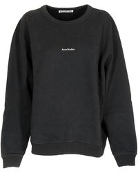 Acne Studios Sweatshirt With Logo On The Chest - Black