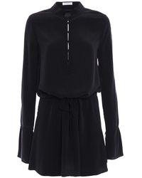 Equipment Trista Silk Mini Dress - Black