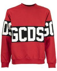 Gcds Logo Crew Neck Sweatshirt - Red