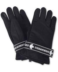 DSquared² Gloves With Branded Velcro Strap In Black