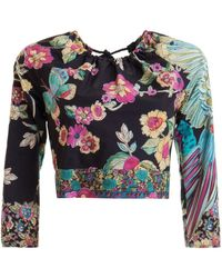 RED Valentino Bird Of Paradise In The Forest Print Blouse - Multicolour