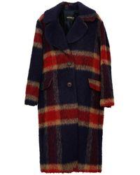 Ottod'Ame Wool-alpaca Blend Coat - Multicolour