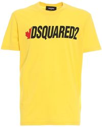 DSquared² - T-shirt in jersey con logo - Lyst