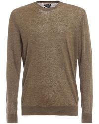 Woolrich Pure Linen Crewneck Sweater - Green