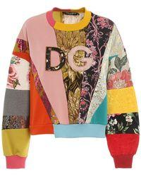 Dolce & Gabbana Patchwork Multicolour Sweatshirt