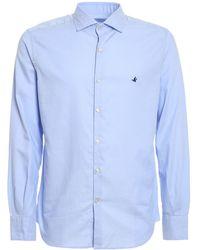Brooksfield Pinpoint Cotton Shirt - Blue