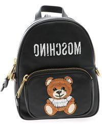 Moschino Teddy Bear Backpack In Black
