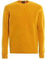 Drumohr Ocher Brushed Lambswool Jumper - Yellow