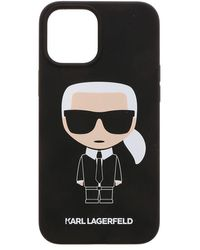 Karl Lagerfeld K Ikonic Iphone 12pro Max Cover In Black
