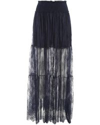 Ermanno Scervino Chantilly Lace Skirt - Blue