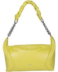 Pinko Medium Napa Hobo Bag - Yellow