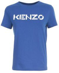 KENZO Logo Lettering T-shirt - Blue