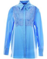 Alberta Ferretti Lace Inserts Shirt - Blue