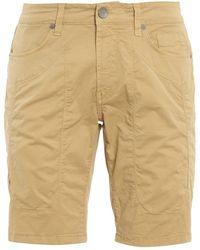 Jeckerson Cotton Bermuda Shorts - Natural