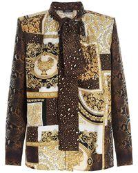 Versace - Camicia Barocco Patchwork multicolor - Lyst