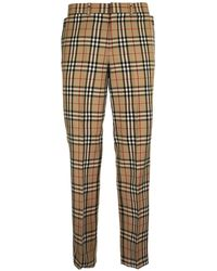 Burberry Vintage Check Pants - Natural