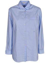 Massimo Alba Uma Cotton Shirt In Light Blue