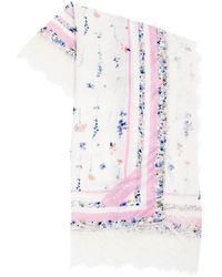 Ermanno Scervino Viscose Floral Print Lace Scarf - Multicolor