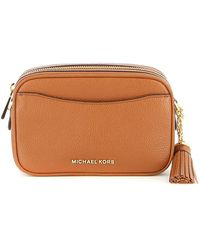 Michael Kors Jet Set Small Hammered Leather Bag - Brown