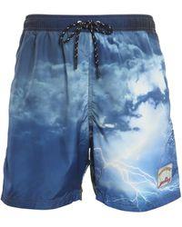 Paul & Shark Sea Printed Swim Shorts - Blue
