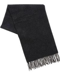 Vivienne Westwood Logo Embroidery Wool Scarf - Gray