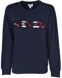 KENZO Logo Sweatshirt In Blue