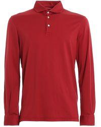 Fedeli Zero Long Sleeve Polo - Red