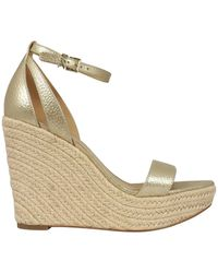 Michael Kors Kimberly Wedge Sandals - Metallic