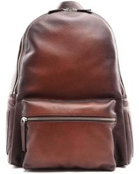 Orciani Micron Deep Gradient Leather Backpack - Brown