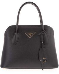 Prada Logo Handbag In Black