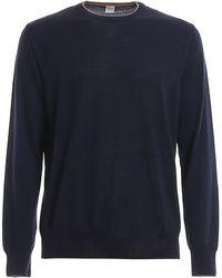 Eleventy Wool And Silk Blend Jumper - Blue