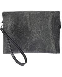Etro Paisely Print Beauty Case In Black
