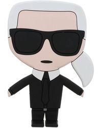 Karl Lagerfeld Kupsole Slip-ons In Black