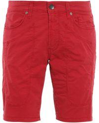 Jeckerson Cotton Bermuda Shorts - Red