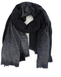 Avant Toi Destroyed Cashmere Silk Scarf - Blue