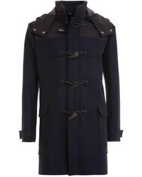 Armani Wool And Cashmere Blend Montgomery - Blue