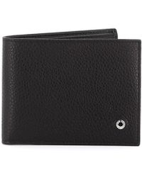 Orciani Black Grainy Leather Bifold Wallet