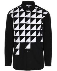 Comme des Garçons - Camicia nera con stampa astratta - Lyst