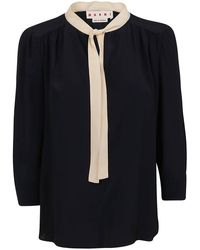 Marni Pussy Bow Blouse - Blue