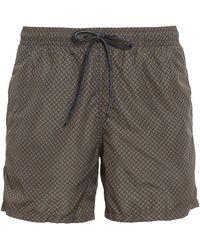 Drumohr Biscuit Patterned Swim Shorts - Green