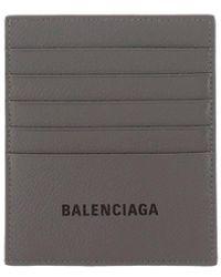 Balenciaga Leather Dark Grey Wallet