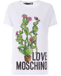 Love Moschino - Cactus Print Short Sleeve T-shirt - Lyst