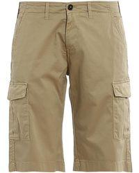 Fay Cotton Cargo Shorts - Natural