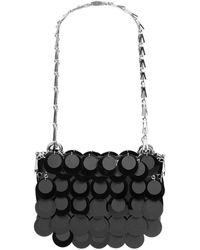 Paco Rabanne Sparkle Nano Bag With Black Sequins