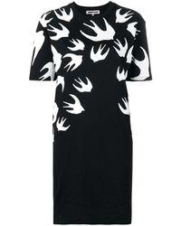McQ Swallow Printed Dress - Black
