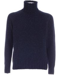 PS by Paul Smith Speckle Turtleneck - Blue