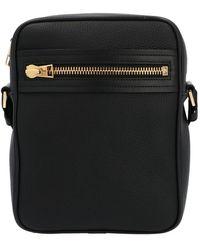 Tom Ford Vertical Messenger Crossbody Bag In Black