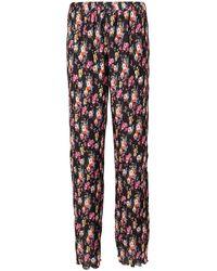 MSGM Pantaloni plissettati a fiori - Multicolore