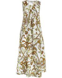 Le Sarte Pettegole Contrasting Print Dress - White